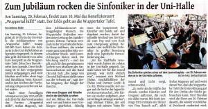 WZ Wuppertal Hilft! 7.1.2016